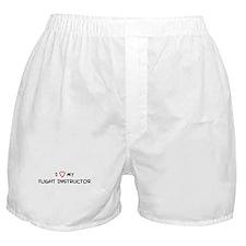 I Love Flight Instructor Boxer Shorts