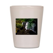 Waterfall and Mossy Rocks Shot Glass