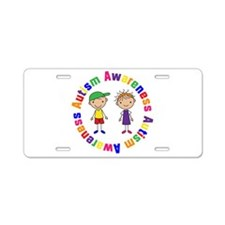 Colorful Autism Awareness License Plate