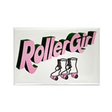 """Roller Girl"" Rectangle Magnet"