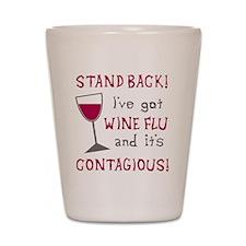 Wine Flu Shot Glass