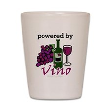 Powered By Wine Shot Glass