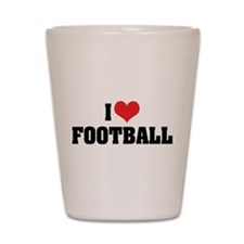 I Love Football 2 Shot Glass