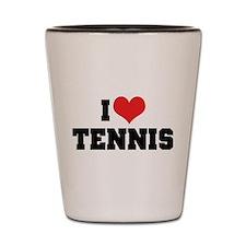 I Love Tennis 2 Shot Glass