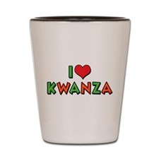 I Love Kwanza Shot Glass