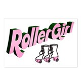 """Roller Girl"" Postcards (Package of 8)"