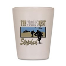 Military Stepdad Shot Glass