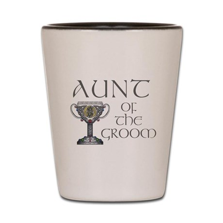 Celtic Aunt of Groom Shot Glass