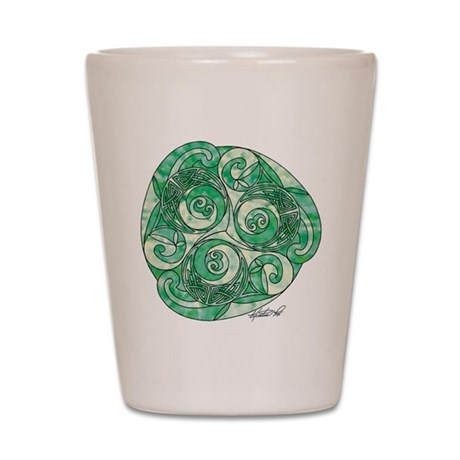 Celtic Green TriSpiral Shot Glass