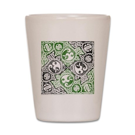 Celtic Puzzle Square Shot Glass