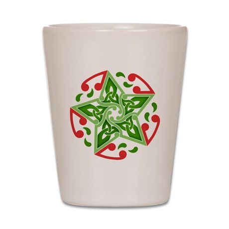 Celtic Christmas Star Shot Glass