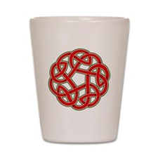 Celtic Christmas Knot Shot Glass