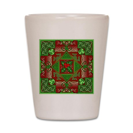 Celtic Labyrinth Holly Shot Glass