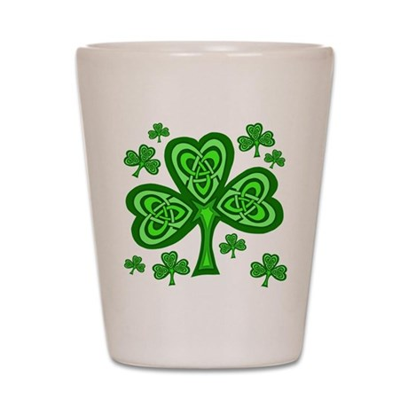 Celtic Shamrocks Shot Glass