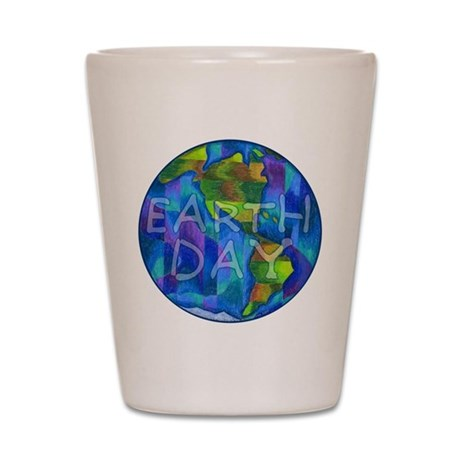 Earth Day Planet Shot Glass