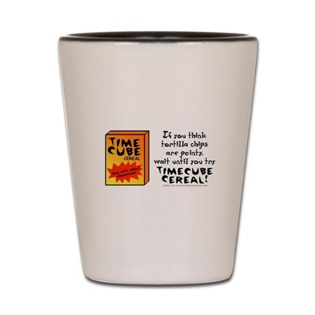 Time Cube Cereal Shot Glass