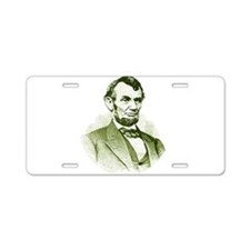 Abe Lincoln Aluminum License Plate