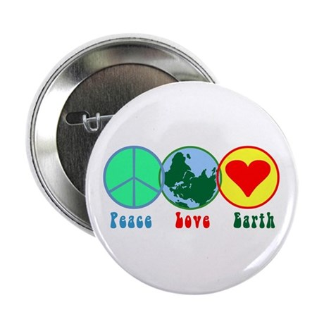 "Peace Love Earth 2.25"" Button (100 pack)"