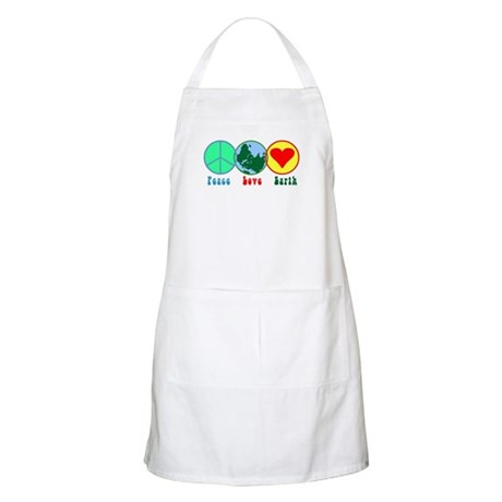 Peace Love Earth BBQ Apron