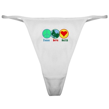 Peace Love Earth Classic Thong