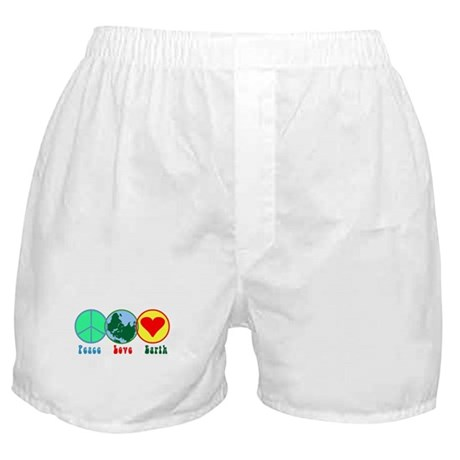 Peace Love Earth Boxer Shorts