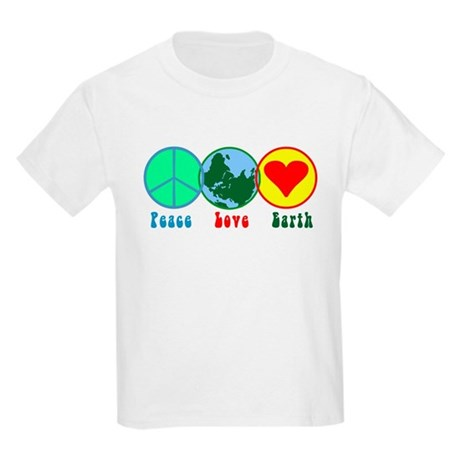 Peace Love Earth Kids T-Shirt