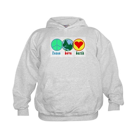 Peace Love Earth Kids Hoodie