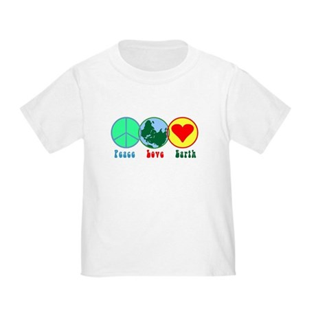 Peace Love Earth Toddler T-Shirt
