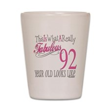 92nd Birthday Gifts Shot Glass