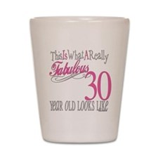 30th Birthday Gifts Shot Glass