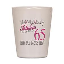 65th Birthday Gifts Shot Glass
