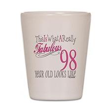 98th Birthday Gift Shot Glass
