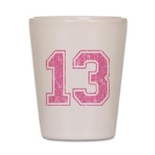 Retro 13 Number Shot Glass