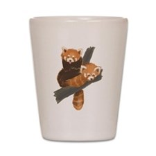 Red Pandas Shot Glass
