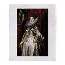Portrait of Marchesa Brigida Throw Blanket