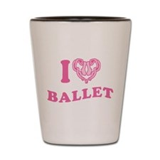 I Heart Ballet Shot Glass