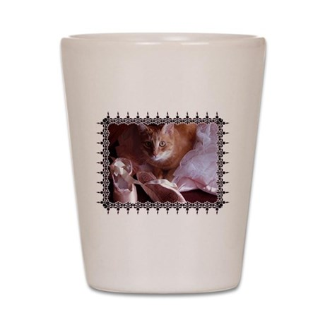 Cat and Ballet Slippers Shot Glass