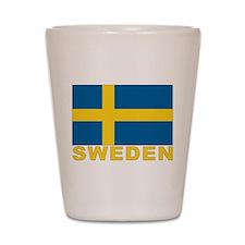 Sweden Flag Shot Glass