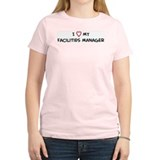I Love Facilities Manager Women's Pink T-Shirt