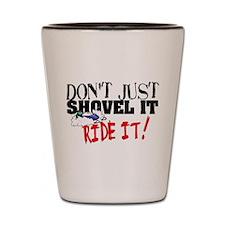 Don't Shovel It, Snowmobile Shot Glass