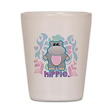 Retro Hippie Hippo Shot Glass