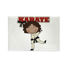AA Girl Karate Kid Rectangle Magnet (10 pack)