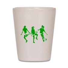 Green express Yourself Female Shot Glass