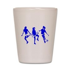 Blue Express Yourself Female Shot Glass