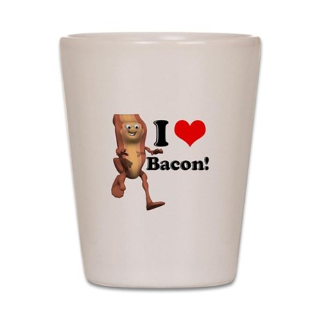 I Heart (Love) Bacon Shot Glass