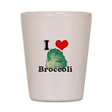 I Heart (Love) Broccoli Shot Glass