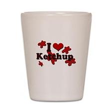 I Love Ketchup Shot Glass