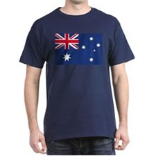 Australian Flag Black T-Shirt