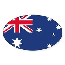 Australian Flag Oval Stickers