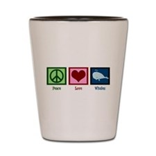Peace Love Whales Shot Glass